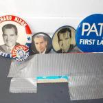 4- Original Presidential Campaign pins.