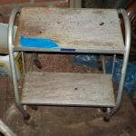 22 Inch metal stair / 2 step, light but strong/