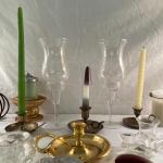 Lot 279 - Candle Stands, Candles and More
