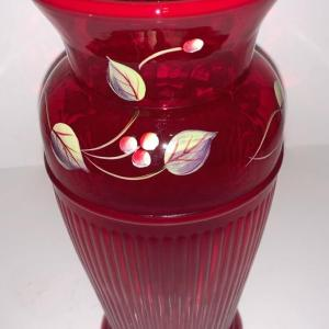 Photo of Fenton Vase signed by Artist