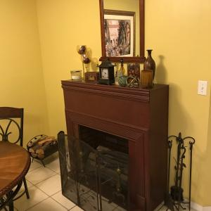 Photo of FAUX FIREPLACE WITH ACCESSORIES