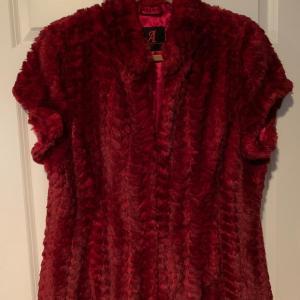 Photo of Faux fur red vest