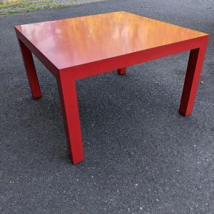 Photo of Orange Lacquer Table