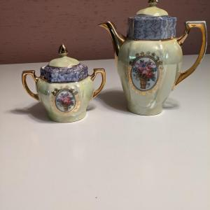 Photo of Vintage Tea Pot and Sugar Holder