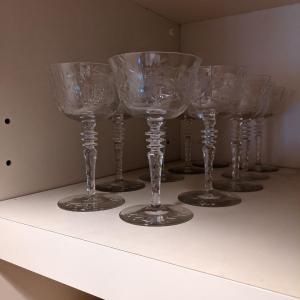 Photo of Vintage Crystal Unsigned Wine Glasses
