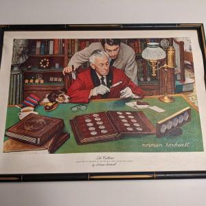 Photo of Framed Art - Collector by Norman Rockwell