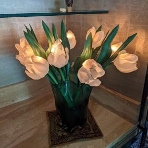 Photo of Light up Fake Flowers in Vase