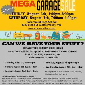 Photo of 18th Annual Rosemount Band MEGA 2 Day Garage Sale