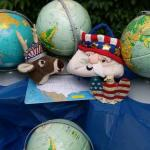 Vintage globes and Americana