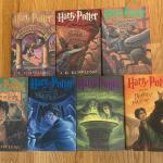Set of 7 HARRY POTTER BOOKS - Hardback Editions - NM-MT