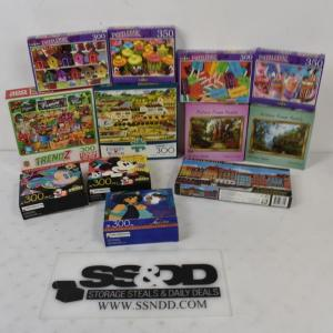Photo of 12pc Puzzles: DIsney, Charles Wysocki, Picture Frame, etc