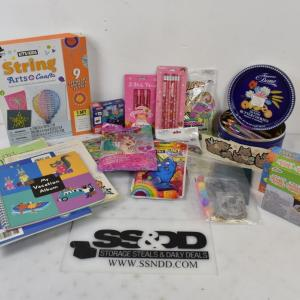 Photo of Kids' Crafts Lot: Pens, Construction paper, Notebooks, etc