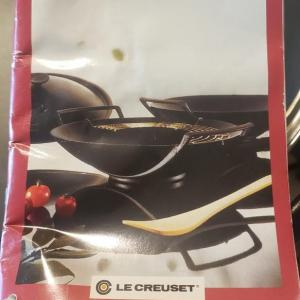 Photo of New Le Creuset Wok with Lid with Brass Ice Bucket and Table Mats