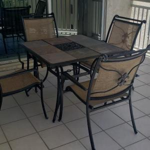 Photo of Patio Table with 4 Chairs