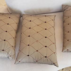 Photo of 3 Tan Custom Pillows