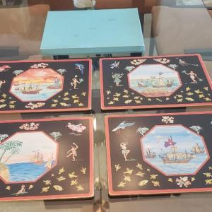Photo of 4 Tiffany Corkboard Placemats with Box