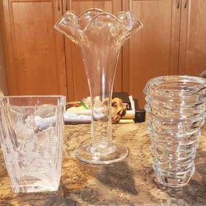 Photo of 3 Piece Glass Lot, Including Simon Pearce, Nachtmann and a Signed Piece