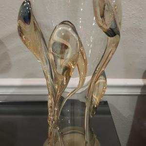 Photo of Signed Tamaian Glass Hand Blown Vase By Ion Tamaian
