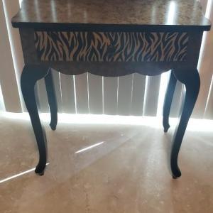 Photo of Anita Rosenburg Signed Wood Small Table