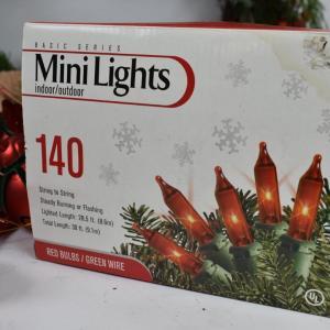 Photo of Christmas Lot: Wreaths, Lights, Decorative Birds, etc