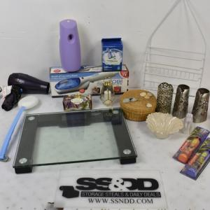 Photo of Bath Lot: Scale, Airwick, Fabric Steamer, Soap, Toothbrush, etc