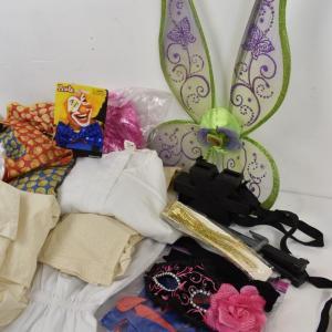 Photo of Costume Lot: Dress, Cloak, Shirts, Pants, Wings, etc