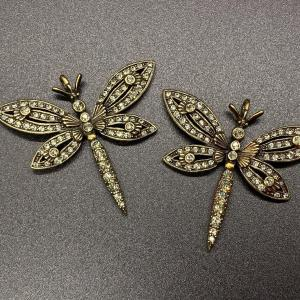 Photo of Pair of Heidi Daus Dragonfly Pendant Charms