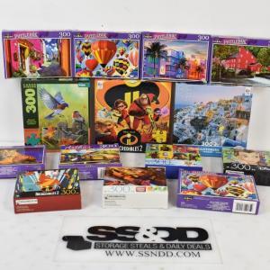Photo of 14pc Puzzles: Disney, Pixar, Greece, Nature, etc