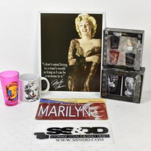 Photo of Marilyn Monroe Collectibles: Mug, Drinking Glasses, etc