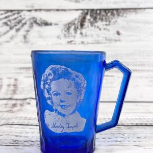 Photo of Shirley temple blue glass cup