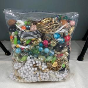 Photo of Large Bag of Jewelry for Repair or Crafts