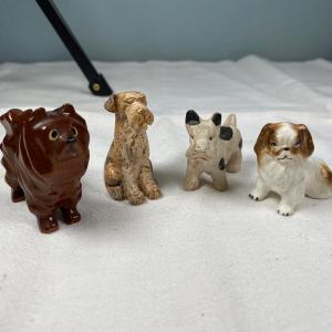 Photo of Lot of 4 Various Miniature Dog Figurines