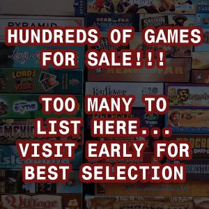 Photo of Gamer's Garage Sale - tons of hobby board games, great prices!