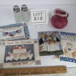 Pottery Creamer, Wexford Salt/Pepper, Modern Pot Holders, Wall Plaque