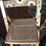 Hand painter folding wooden  chairs