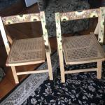Hand painted folding wooden  chairs