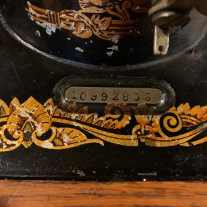 Photo of Singer Coffin Top sewing machine