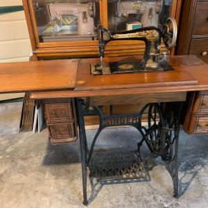 Photo of Antique Singer sewing machine