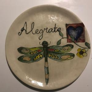 Photo of Hand Painted Dragonfly Plate