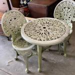 3 Piece Decorative Patio Table & Chairs