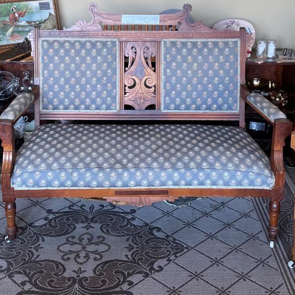 Photo of Vintage Eastlake parlor set.