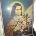Large Mother Mary Lithograph .