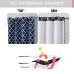 Lattice Print Thermal Insulated Black out curtains