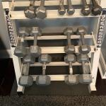 Weight set and rack