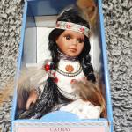 Vintage Cathay Collection Limited Edition Porcelain Native American/Indian Doll