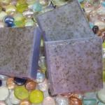 HOMEMADE BARS OF OLIVE OIL & SHEA BUTTER SOAP SCENTED WITH  LAVENDER