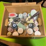 Box of painting supplies