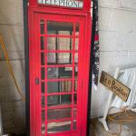 telephone booth wall hanging