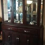 Dining Room Table,  Pier One chairs, bench, and China cabinet