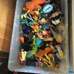 Box of Collectible Toy Figures